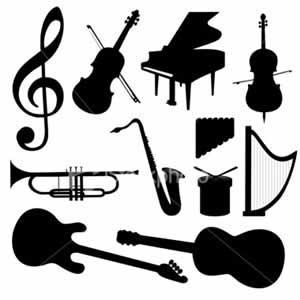 Instrumentos musicais variados