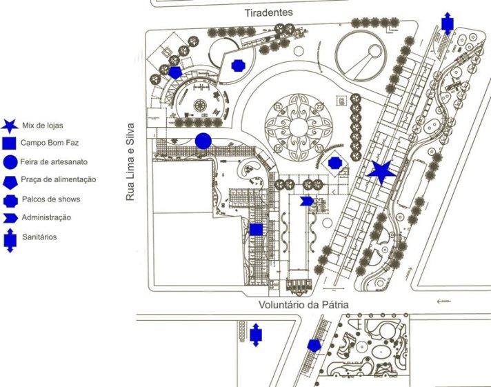 Mapa da festa 2009