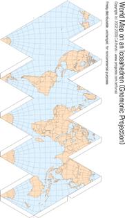 icosaedro mapa mundi