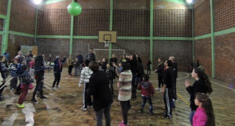 Famílias integradas durante atividade